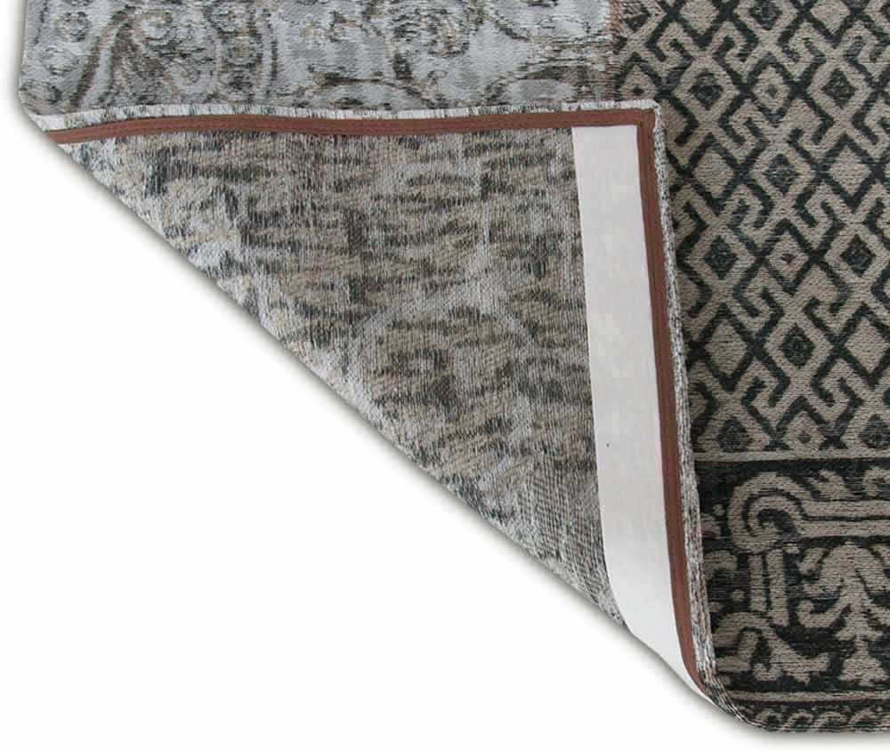 vloerkleed Louis De Poortere LX8101 Vintage Black White corner