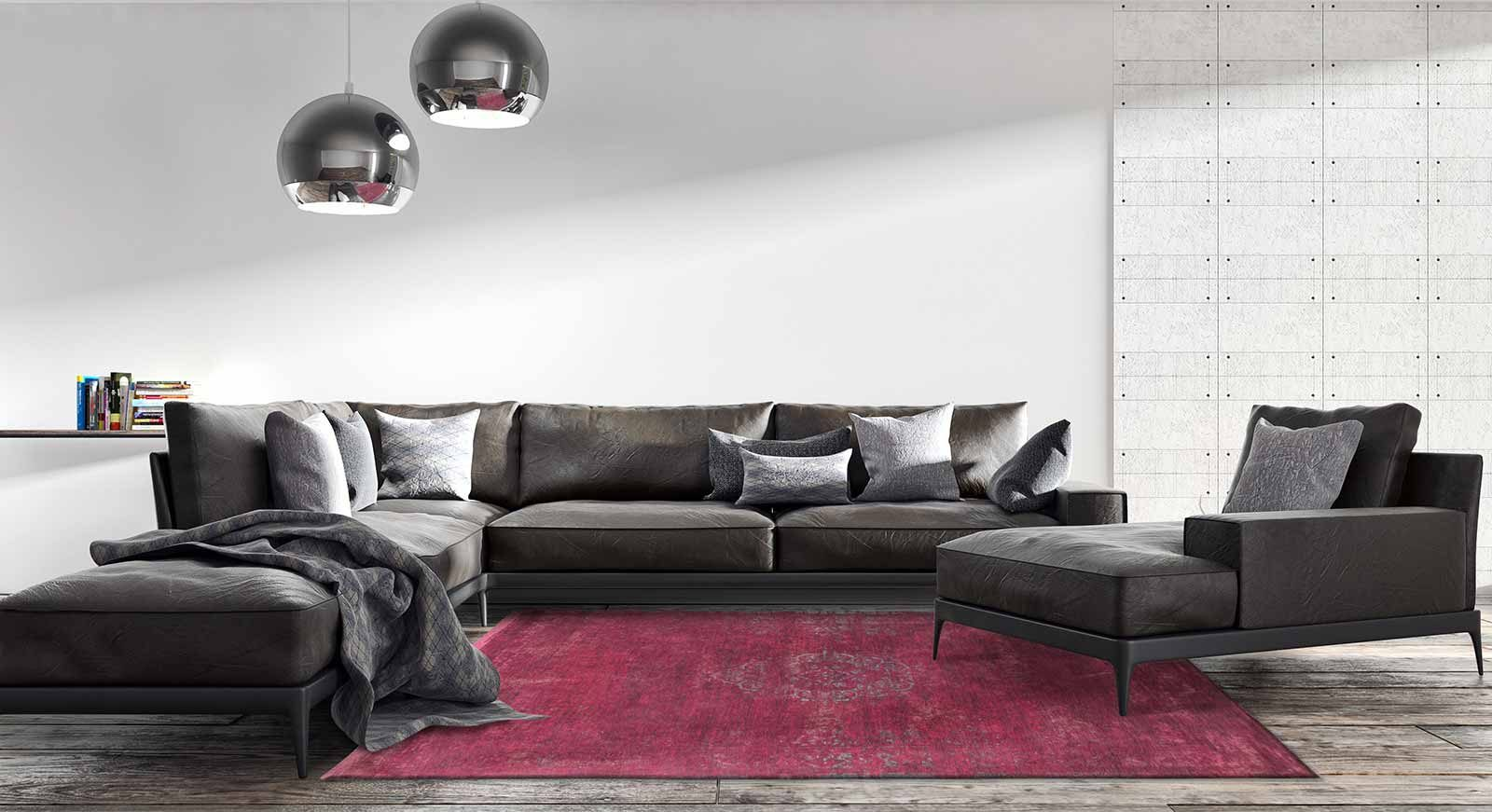 vloerkleed Louis De Poortere LX8260 Fading World Medaillon Scarlet interior