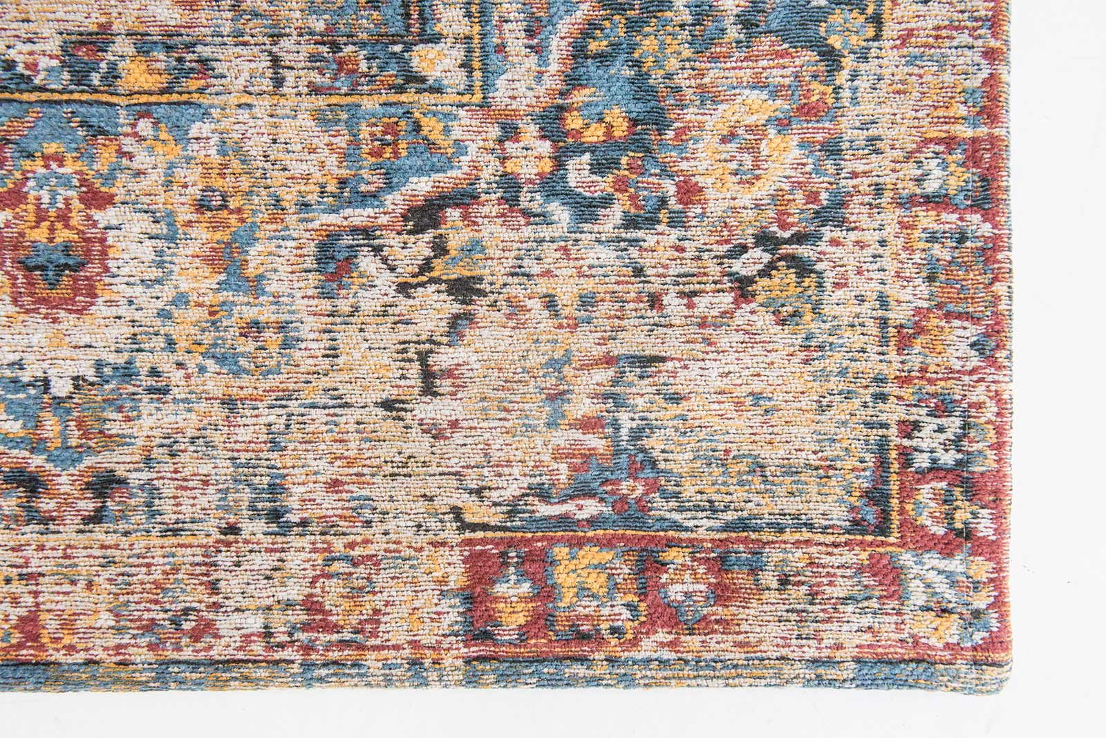 vloerkleed Louis De Poortere LX8713 Antiquarian Antique Bakthiari Khedive Multi corner