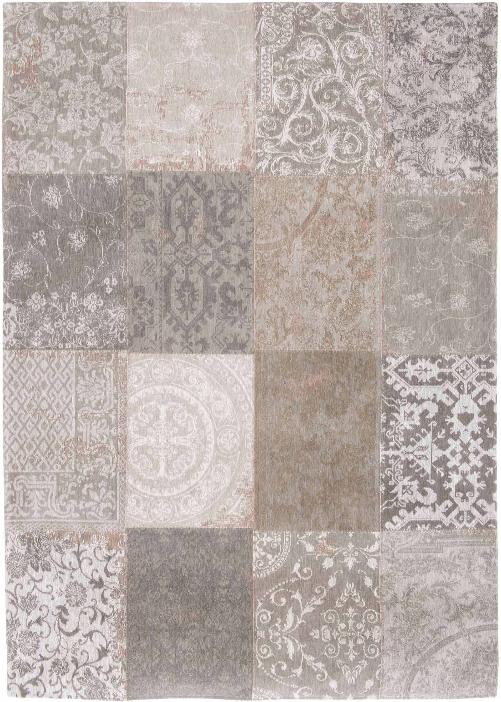 Vloerkleed Vintage Patchwork.Louis De Poortere Vloerkleed Vintage Ghent Beige 8982 Patchwork Multi Design