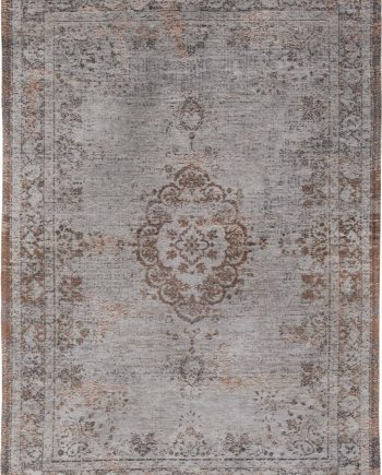 vloerkleed Louis De Poortere LX8257 Fading World Medaillon Grey Ebony