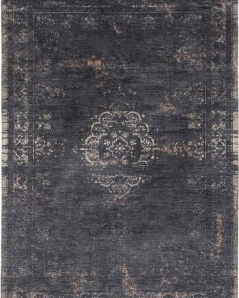 vloerkleed Louis De Poortere LX8263 Fading World Medaillon Mineral Black