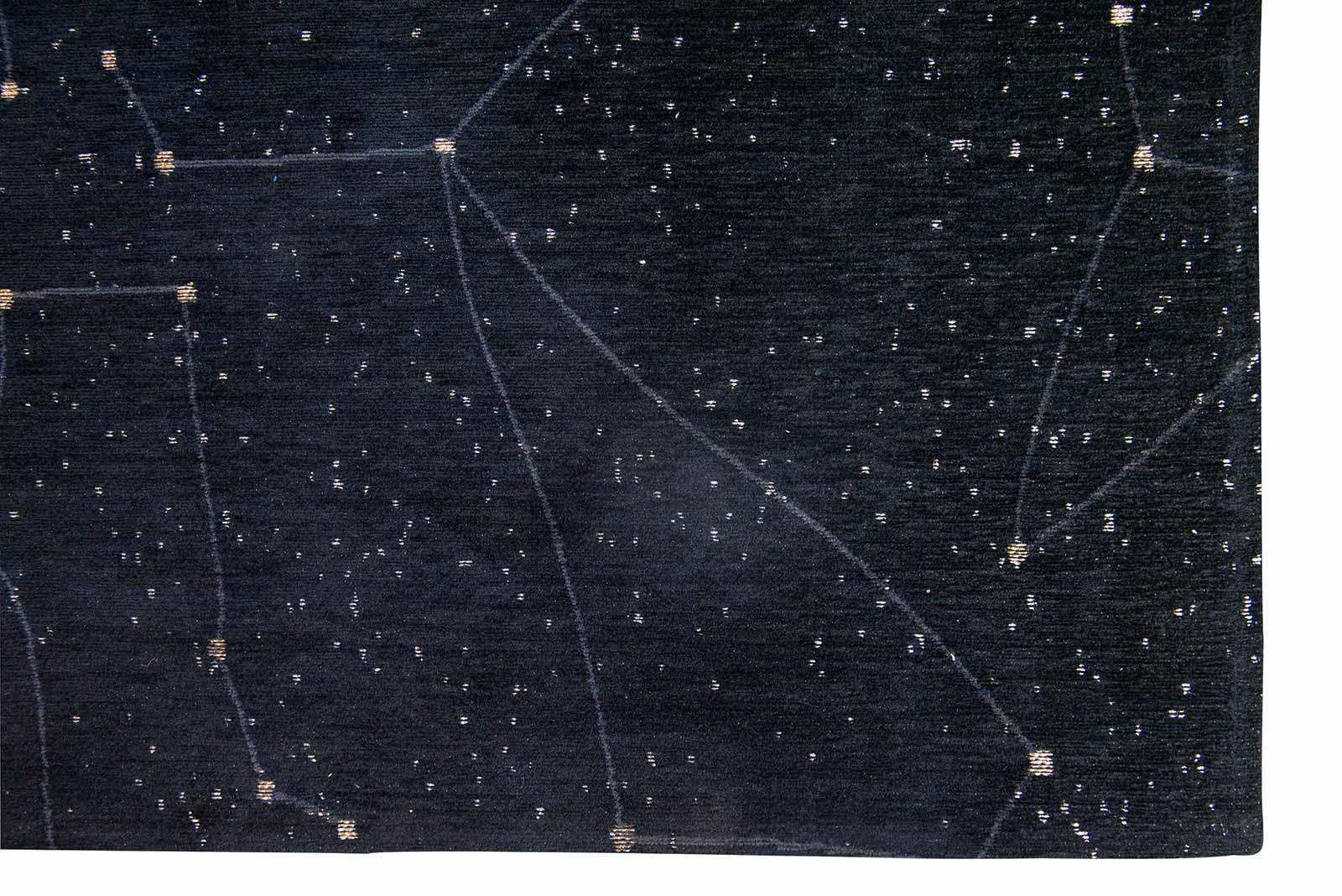 Louis De Poortere vloerkleed Fischbacher 9059 Celestial Night Sky corner