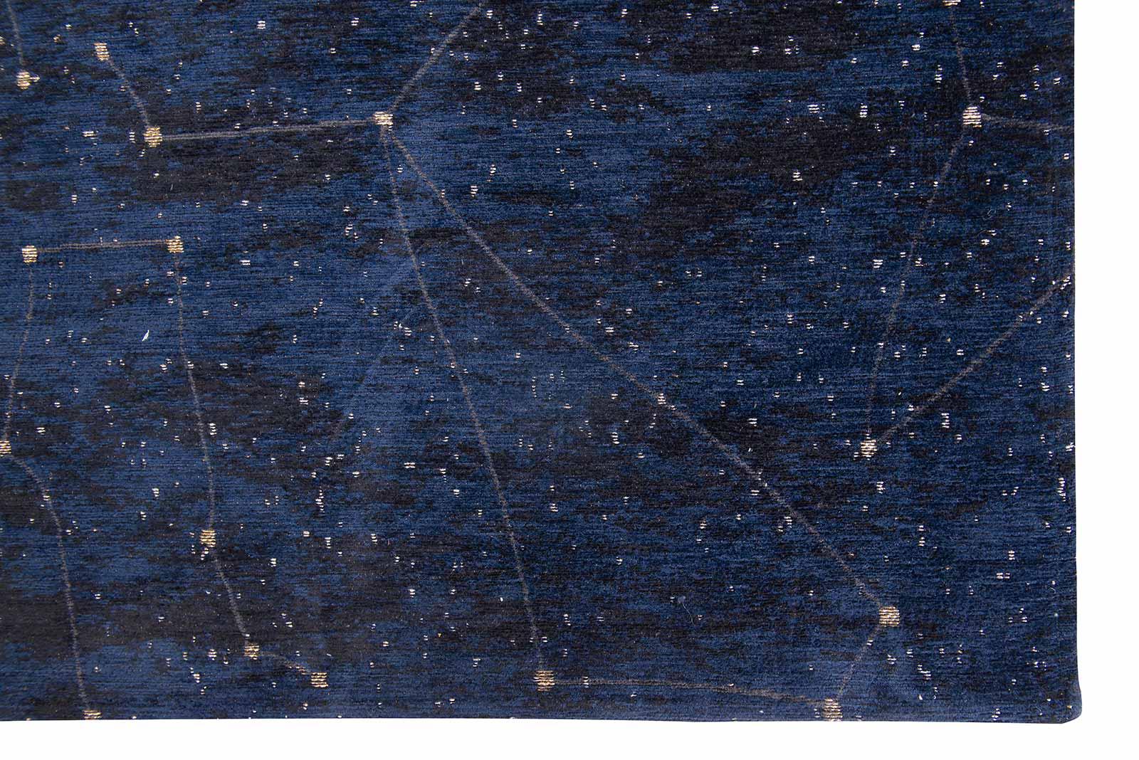 Louis De Poortere vloerkleed Fischbacher 9060 Celestial Midnight Blue corner