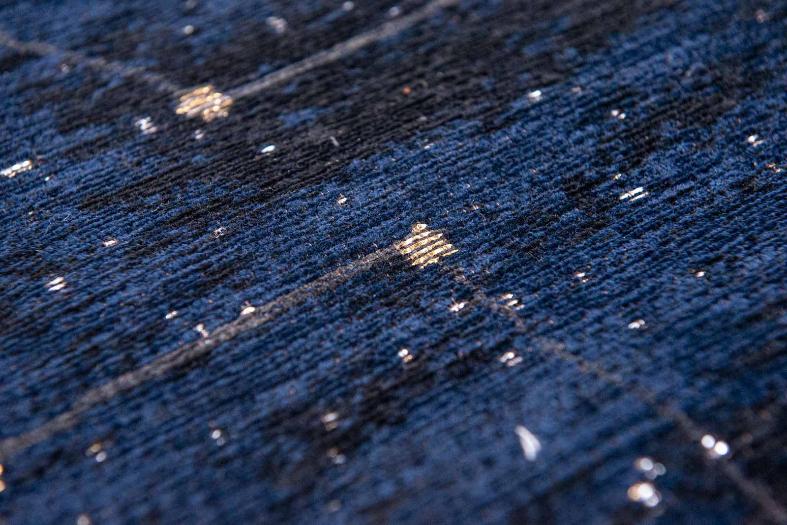 Louis De Poortere vloerkleed Fischbacher 9060 Celestial Midnight Blue zoom 2